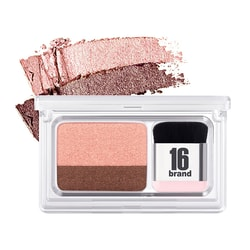 16BRAND Eye Magazine Dual Color Eye Shadow with Brush #04 Hey My Day 1pc