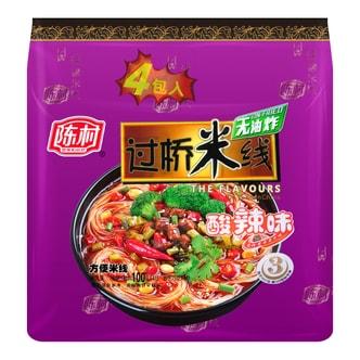 陈村 无油炸 过桥米线 酸辣味 4包入 400g
