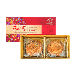 IMPERIAL PALACE Double Egg Yolk with Date Paste +Red Bean Paste Mooncake 2pc 360g