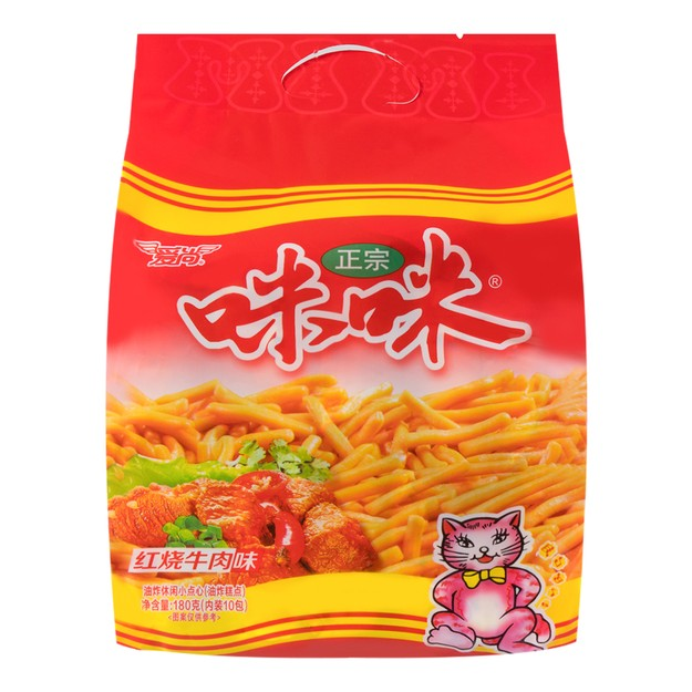 Product Detail - AISHANG Mimi Shrimp Chips Beef  Flavor 180g - image 0