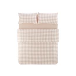 Lifease 4-Piece Plaid Cotton Bed Set with Duvet Cover-Large Twin/Full; Full/Queen-Fitted/Flat [5-7 Days U.S. Shipping]