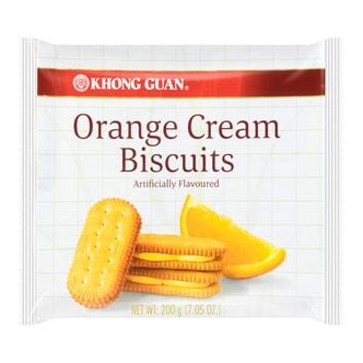 新加坡KHONG GUAN康元 香橙夹心饼干 200g