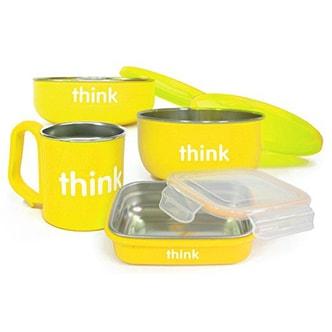 THINKBABY The Complete BPA Free Feeding Set-- Yellow