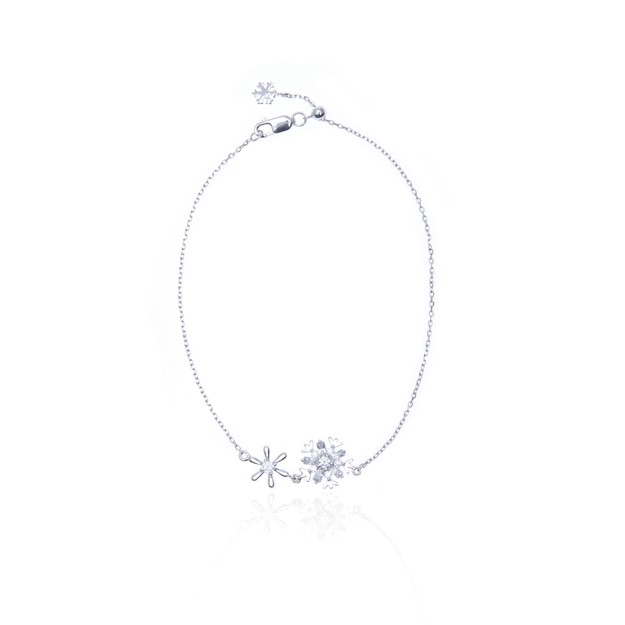 Product Detail - ARSIS bracelet with 2 snow flakes one piece - image 0