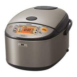 ZOJIRUSHI Induction Heating System Rice Cooker and Warmer 1.8 L Stainless Dark Gray NP-HCC18