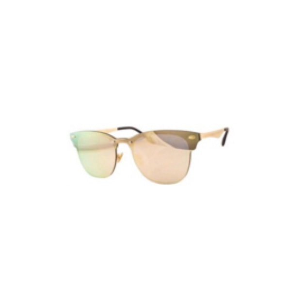 Product Detail - RETRO POP Fashion Sunglasses 8185 Gold Frame/Pink Mirror - image  0