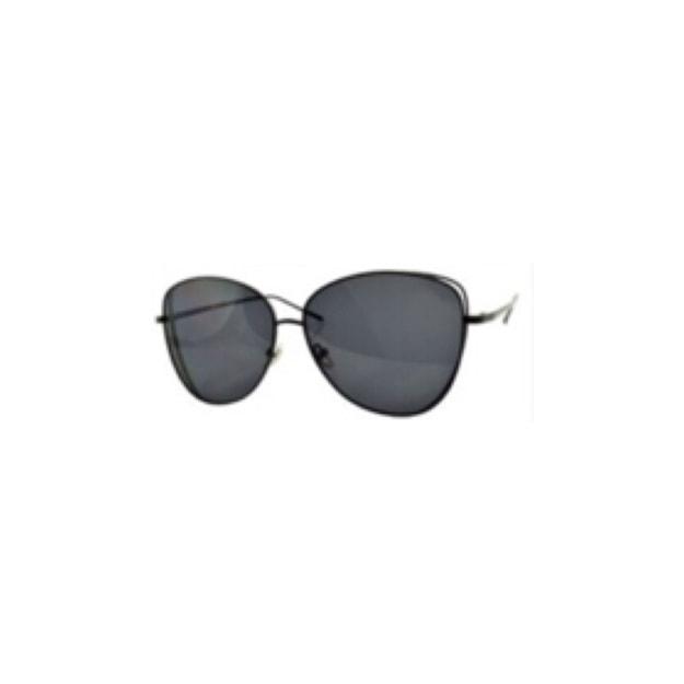 Product Detail - RETRO POP Fashion Sunglasses 7258 Black Frame/Grey Lens - image 0