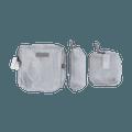 名创优品Miniso 网料三件套大容量收纳包(银色)