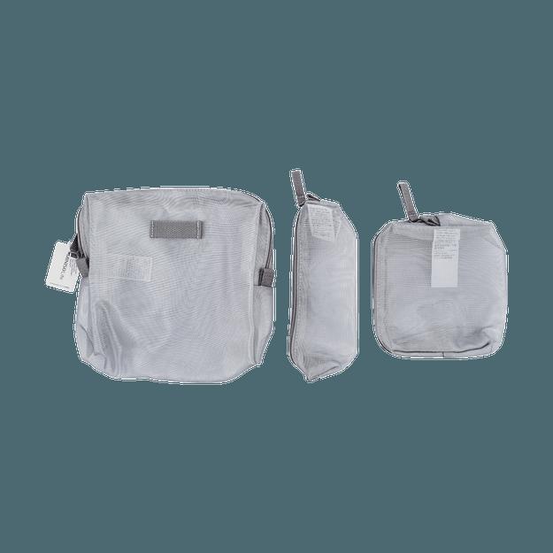 商品详情 - 名创优品Miniso 网料三件套大容量收纳包(银色) - image  0