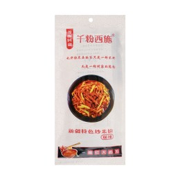 QIANFENXISHI Xinjiang Rice Noodle with Chili Sauce Hot Spicy 250g
