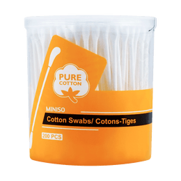 Miniso Cotton Swabs 200 Count