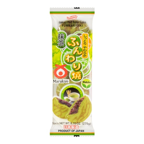 Marukyo Japanese Pancake Green Tea Flavor 5Packs 275g