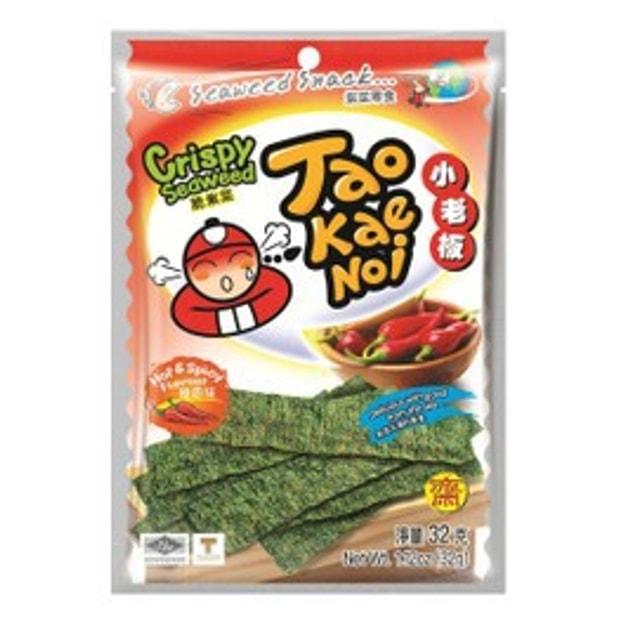 商品详情 - TAO KAE NOI小老板 厚片脆海苔 香辣味 32克 (随机包装) - image  0