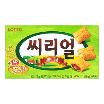 韩国LOTTE乐天 巧克力夹心燕麦小饼干 42g