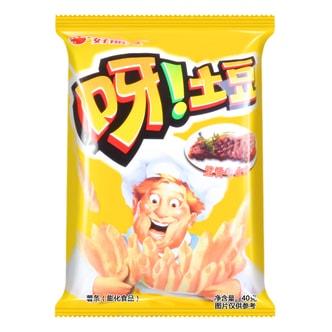 韩国ORION好丽友 呀!土豆薯条膨化食品 里脊牛排味 40g