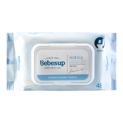 BEBESUP Flushable Bidet Tissue Baby Wipes With Lid 48sheets