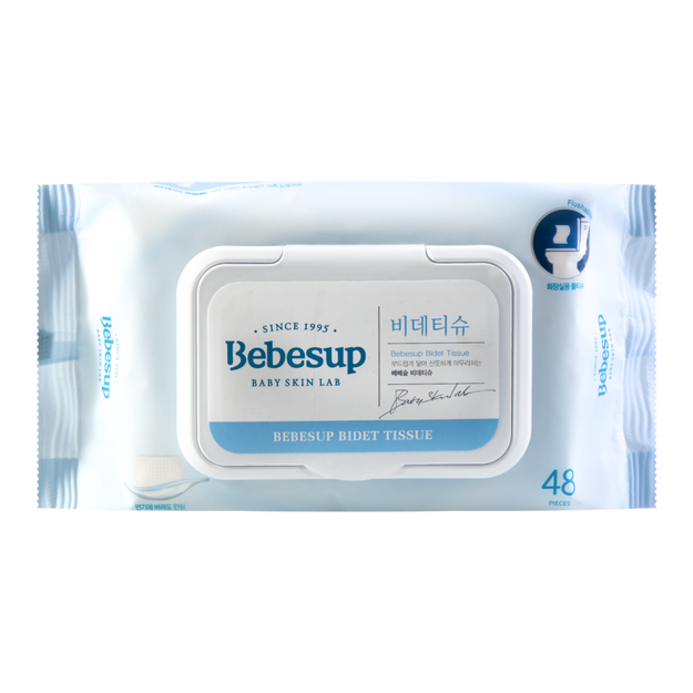 Product Detail - BEBESUP Flushable Bidet Tissue Baby Wipes With Lid 48sheets - image 0