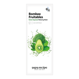 PAPA RECIPE Bombee Fruitables Green Squeeze Relaxing Mask 1 sheet