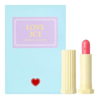 韩国3CE LOVE 贝壳丝柔哑光唇膏 #LAUGH 3.5g