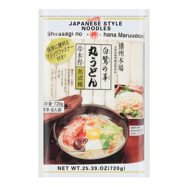 Product Detail - SHIRAKIKU Shirasagi No Hana Maruudon Japanese Style Noodles 720g - image 0