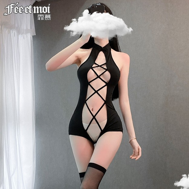 Product Detail - FEE ET MOI Sexy halter strap hollow one-piece suit - image 0