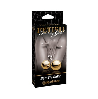 Adult toy PIPEDREAM FETISH Fantasy Gold Ben-Wa Balls