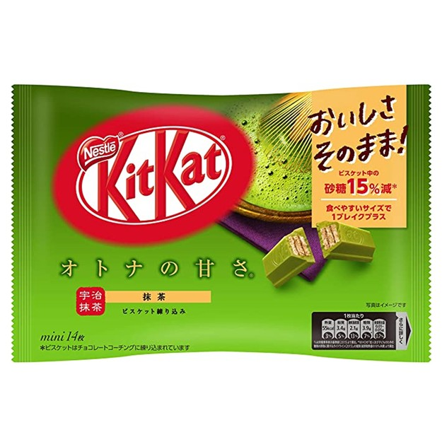 商品详情 - 【日本直邮】DHL直邮3-5天到 KIT KAT季节限定 抹茶口味巧克力威化 14枚装 - image  0
