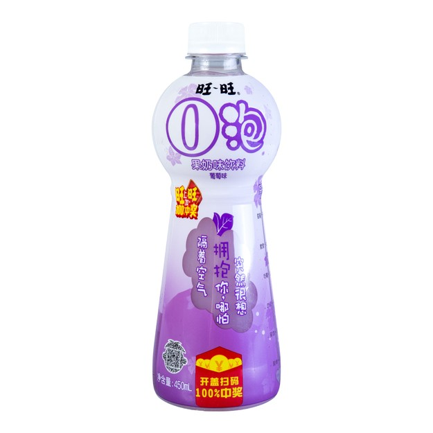 Product Detail - WANT WANT Milk Drink Grape Flavor 450ml - image 0