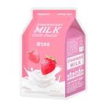 韩国 A'PIEU 草莓牛奶面膜 亮泽光彩 1片入