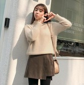 CHERRYKOKO New Korean Women Autumn Sweet sweater beige free size