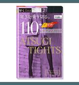 【日本直邮】日本厚木 ATSUGI 秋冬发热打底连裤袜 厚款110D #黑色 M-L 2双装