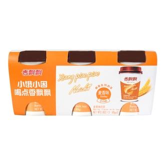香飘飘 椰果系列 麦香味奶茶 80g*3连杯