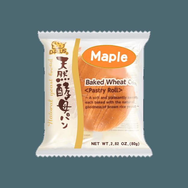 商品详情 - 【全美最低价】日本D-PLUS 天然酵母持久保鲜面包 枫蜜味 80g - image  0