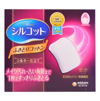 UNICHARM SILCOT Silk Touch Cotton Wipes 32 Pieces