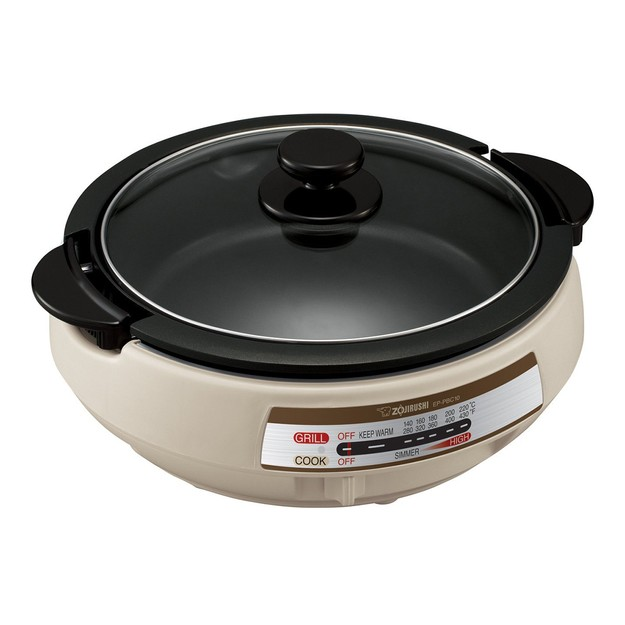Product Detail - ZOJIRUSHI Gourmet Expert Electric Skillet & Hot Pot #Light Grey EP-PBC10 - image 0