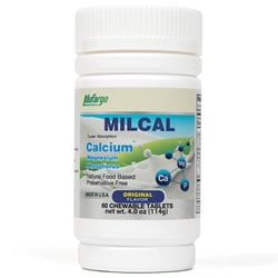 NuFargo MilCal Calcium + Magnesium Chewables |  Leg Cramps Bone & Joint Health | for Women Men Kids Adults | 60 Tablets