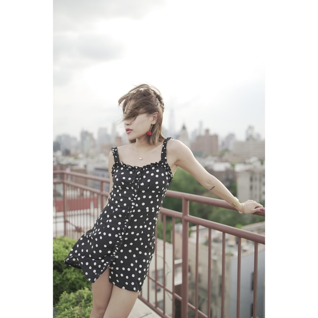 Product Detail - VERAFIED Becky Polka dot dress Black One-size(XS - M) - image 0