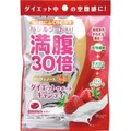 【日本直邮】Graphico 满腹30倍水果糖 明列子增加饱腹感 缓解饥饿 牛奶草莓味 42g