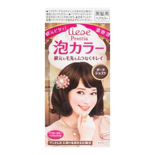 Kao Liese Prettia Bubble Hair Dye Dark Chocolate 1set