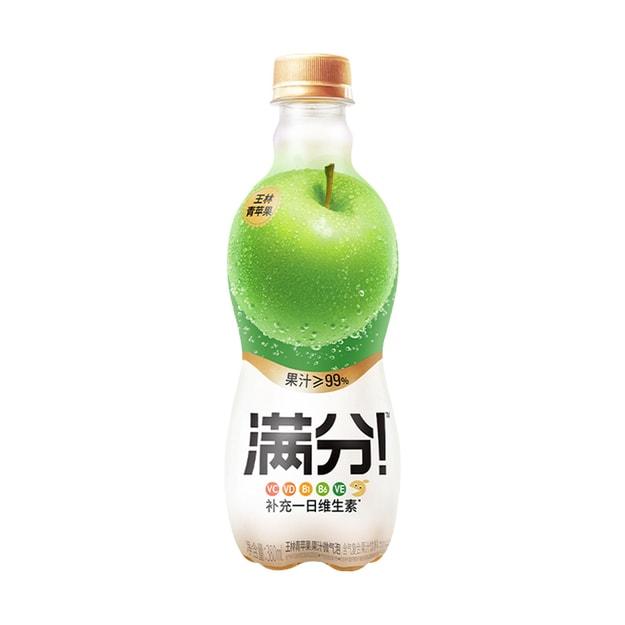 商品详情 - 元气森林 满分微气泡果汁 王林青苹果 380ml - image  0
