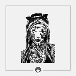 @BECOME Original Tattoo Stickers Cat girl One Piece