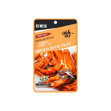【冷冻】纯味 麻辣鸭爪 56g
