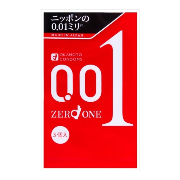 Product Detail - JAPAN OKAMOTO 0.01 Condoms 3 Pieces - image 0