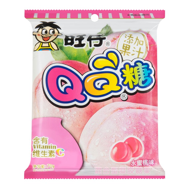 Product Detail - WANT WANT QQ Soft Candy Peach Flavor 70g - image 0