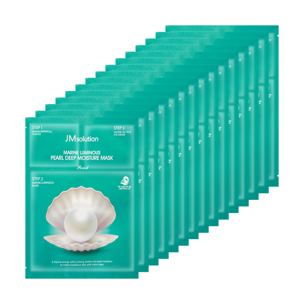 Product Detail - JM SOLUTION Pearl Deep Moisture Mask 1 sheet*15 - image  0