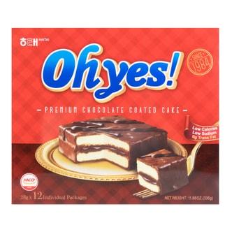 韩国HAITAI海太 OHYES欢乐时光 巧克力酱小蛋糕 336g