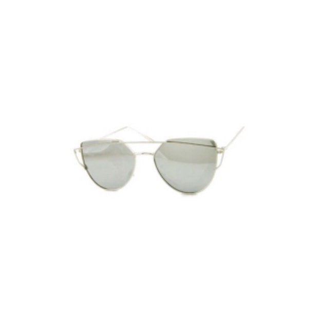 Product Detail - RETRO POP Fashion Sunglasses 6082 Silver Frame/Silver Mirror - image 0