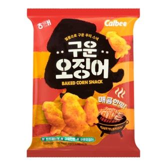 韩国HAITAI海太 X CALBEE卡乐B 膨化辣烤小墨鱼 大包 140g