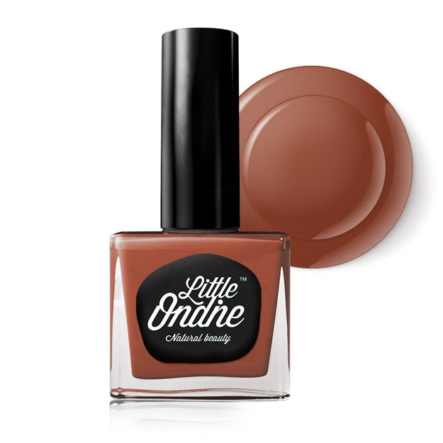Product Detail - Little Ondine Water-based Peel off Odor Free Quick Dry Non Toxic Nail Polish-Solid Orange 0.36 Fl Oz(L742-Buttered Rum) - image  0