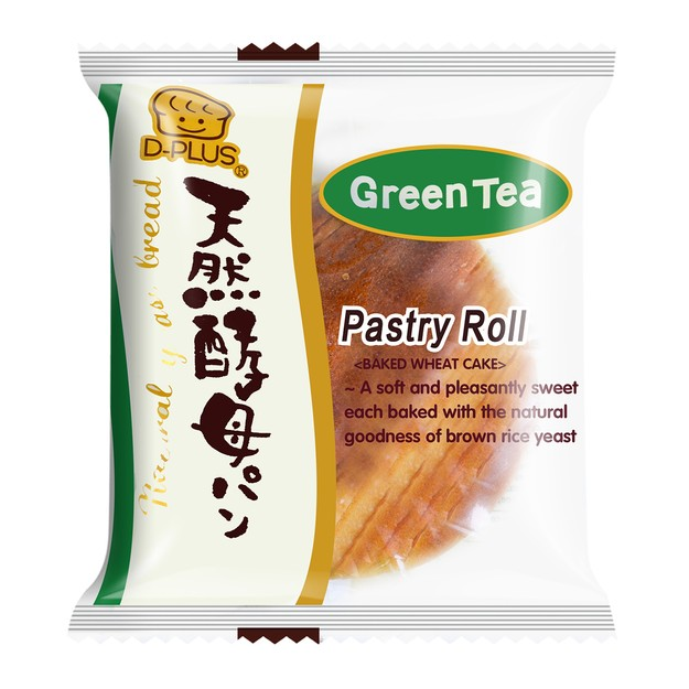 Product Detail - D-PLUS Natural Yeast Bread Green Tea Flavor 80g - image 0
